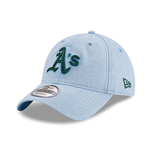 New Era Oakland Athletics 2018 Father's Day 9TWENTY Adjustable Hat – Light Blue (Athletics Oakland Light)