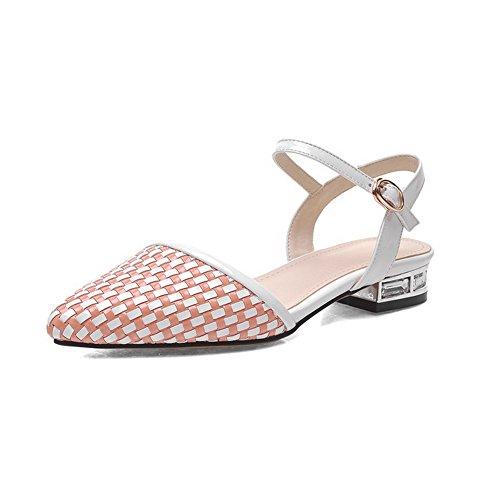 Huomautti Pinkki Materiaaleja Naisten Sandaalit Selin Kirjava Sekoitus Solki Suljettu Alhaisen Allhqfashion Toe FTAw5
