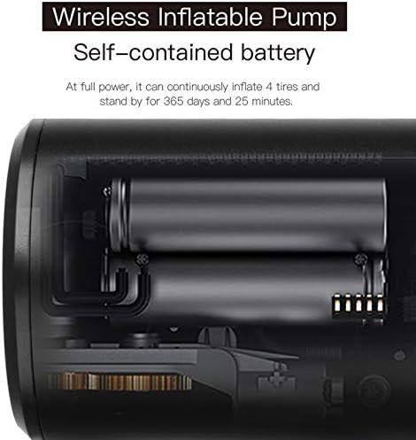 Schwarz with Battery Reuvv Reifenf/üller Elektrische Pumpe Auto Luftkompressor tragbare Mini Inflator Smart Wireless Air Reifenpumpe f/ür Fahrrad Motorrad Handluftpumpe