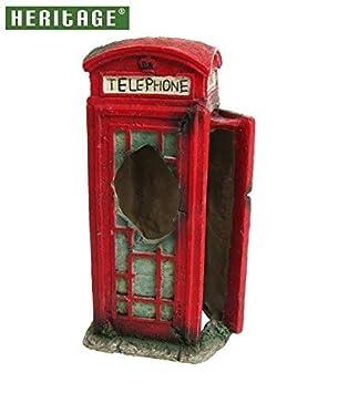 Heritage bm128s Acuario Fish Tank ornamento de cabina de teléfono pintado decoración rojo 14 cm Ocultar: Amazon.es: Productos para mascotas