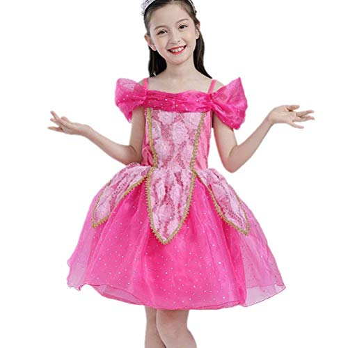 Tsyllyp Girls Princess Aurora Costume Halloween Dress Up Sleeping Beauty Cosplay for $<!--$23.99-->