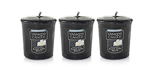 (3 Yankee Candle BLACK SAND BEACH Sampler Votive Candles 1.75 oz Each )