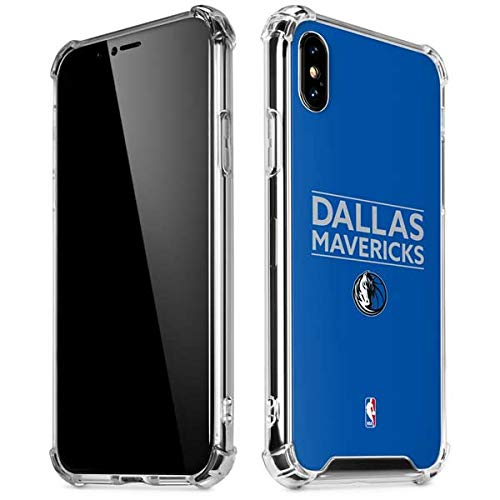 Skinit Dallas Mavericks Standard - Light Blue iPhone XR Clear Case - Officially Licensed NBA Phone Case Clear - Transparent iPhone XR Cover