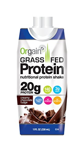 Grass Fed Protein Shake by Orgain, 2 Flavors, 11 oz (12 Pack)