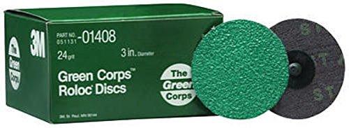3M 264f Green Corps Roloc Discs Black Grade 24 25 Discs Per Box 01408