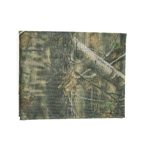 Auscamotek Mesh Camo Netting Camouflage Nets for Turkey Hunting Blinds Window Screen Camping Brown 5 ft x 12 ft (appro) (Through Window See The)
