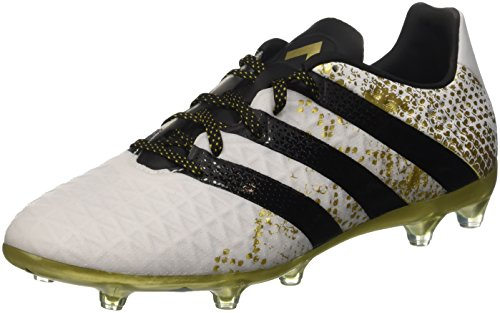 adidas Ace 16.2 FG Mens Football Boots Soccer Cleats (US 8, White Black Metallic Gold S31889) ()