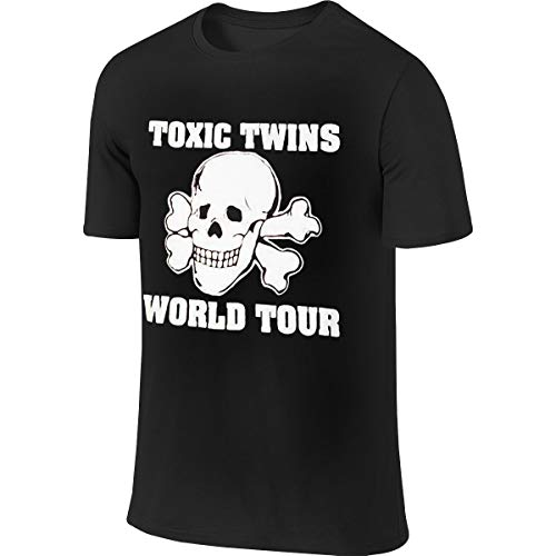 LAURDE New Customized Aerosmith 80s Toxic Twins Tour Fashion Funny T Shirt Short Sleeve for Man Black L (Toxic Tshirt Twins)