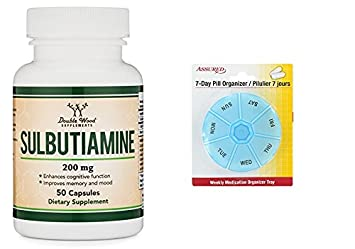 Sulbutiamine cápsulas (suplemento de Nootrópicos) Made in USA, cuenta 50 200mg con gratis