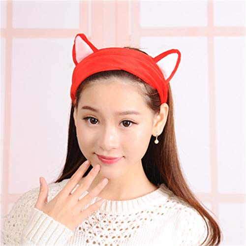 Fleece Hairbow Cross Headbands For Wash Face Makeup
