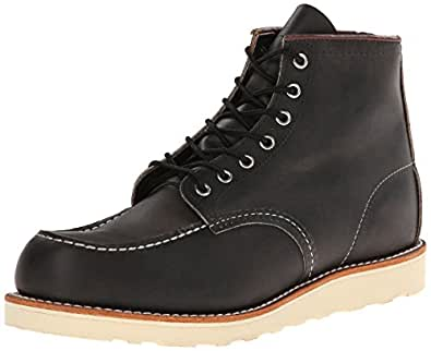 """Red Wing Heritage Men's 6"""" Moc Toe Boot, Charcoal Rough And Tough, 7 M US"""