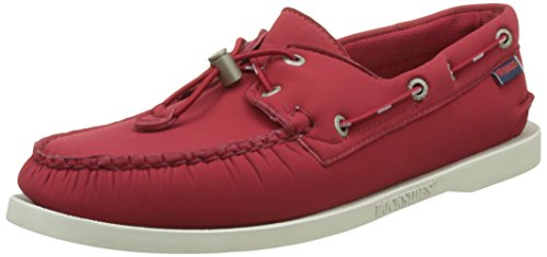 Sebago Docksides Ariaprene Slip On Shoes UK 11 Red