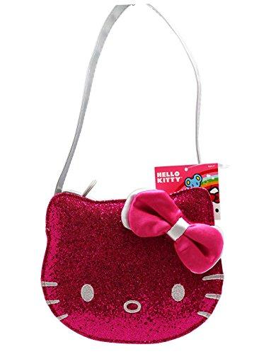 Hello Kitty Hot Pink Glitter Face Small Purse Handbag