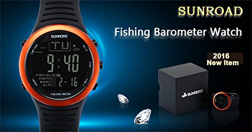 SUNROAD Fishing Watch FR720 Weather Forecast Fishing Place Record Barometer Altimeter Thermometer Backlight Digital Watch by YARUIFANSEN (Image #2)