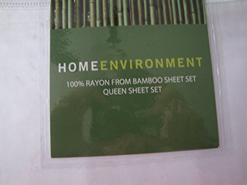 Home Environment 100% Rayon from Bamboo Queen Sheet Set - White