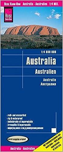 Australia Mapa Impermeable De Carreteras Escala 4 000 000