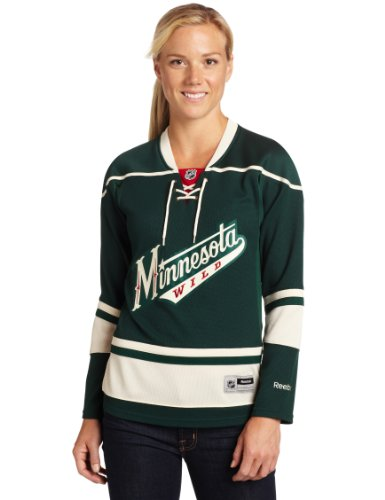 NHL Women's Minnesota Wild Reebok Premier Team Jersey - 7214W5Ckwrmwi (Green, Small)