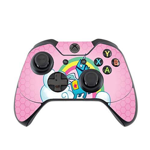 Rainbow Unicorn Pink Background Design Xbox One Controller Vinyl Decal Sticker Skin by egeek amz [video game]