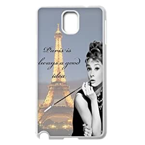 Audrey Hepburn Quotes Original New Print DIY Phone Case for Samsung Galaxy Note 3 N9000,personalized case cover ygtg-781279