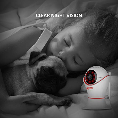 Wireless Baby Monitor 1080p for iPhone or Smart Phone, Two-Way Audio, Night Vision, Dome Surveillance Camera, Wireless Pet Camera with Motion Detection, PT 360 Degree by ANRAN (Image #2)