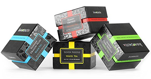 tea-gift-sampler-gourmet-loose-leaf-4-flavors-jasmine-pearl-green-tea-dragon-pearl-black-tea-honey-o