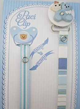 Amazon.com: Osito azul cinta clip para chupete: Baby