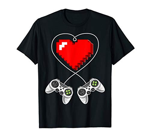 Valentine's Day Video Game Controller Heart Gamer Gift Boys T-Shirt