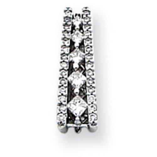 Icecarats Créatrice De Bijoux Or Blanc 14K Voyage Pendentif Diamant