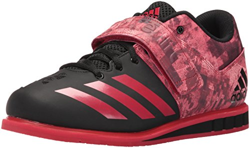 adidas Performance Men's Powerlift.3 Cross-Trainer Shoe, Black/Scarlet/Black, 11.5 M US
