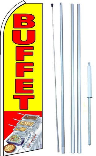 Buffet Swooper Flutter Flag Kit (Partial Sleeve Flag)