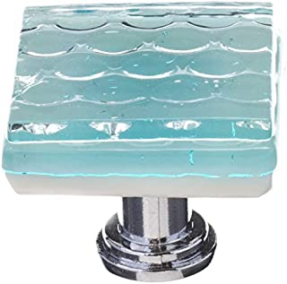 product image for Sietto K-901-PC Texture 1-1/4 Inch Square Cabinet Knob