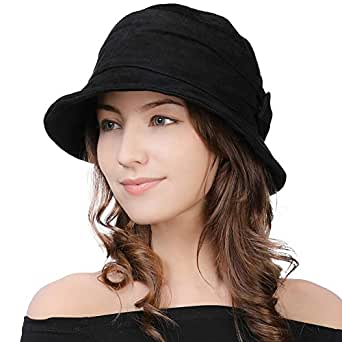 Image Unavailable. Image not available for. Color  Womens 1920 Vintage  Fedora Bowler Cloche Bucket Church Derby Party Hat ... c505a5ed94f4