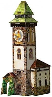 [해외]KERANOVA Clever Paper Medieval Town The Clock Tower 3D Puzzle 15 X 15 X 34 cm / KERANOVA Clever Paper Medieval Town The Clock Tower 3D Puzzle, 15 X 15 X 34 cm