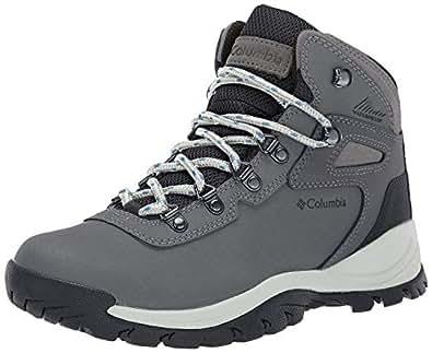 Columbia Women's Newton Ridge Plus Hiking Boot, Quarry/Cool Wave, 5.5 Wide US