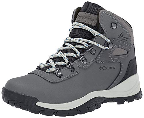 Columbia Women's Newton Ridge Plus Hiking Boot, Quarry/Cool Wave, 8 Regular US (Columbia Sportswear Boots)
