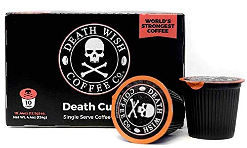 Death Wish Coffee Single-Serve Capsules for Keurig K-Cup Brewers, 10 Count,0.44 oz