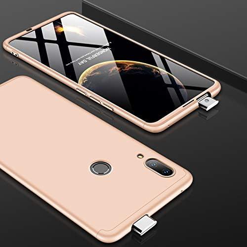 電話用BOYUHIIシリコン保護ケース 三段スプライシングフルカバレッジ華為Psmart Z用PCケース(ブラック) ATCYE (Color : Gold)