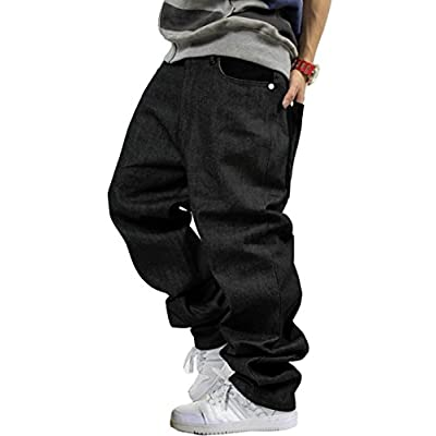 Top QIBOE Men's Vintage Graffiti Hip Hop Style Baggy Jeans Denim supplier