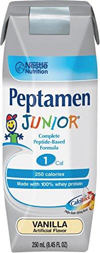 - Peptamen Junior 9871616252 Complete Peptide-Based Formula, Vanilla, 250 mL, Case of 24
