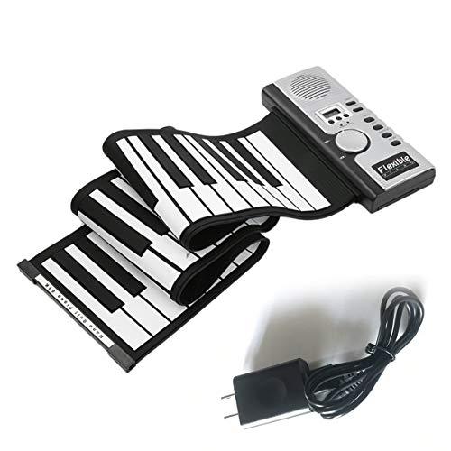 Birdlantern 61キー電子ピアノキーボードシリコンフレキシブルロールアップデジタルピアノ128トーン用子供のおもちゃ学習初心者教育玩具