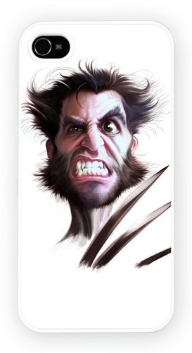 Hugh Jackman Caricature Celebrites iPhone, iPhone 6+ (PLUS) cas, Etui de téléphone mobile - encre brillant impression