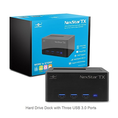 Vantec NexStar TX USB 3.0 Hard Drive Dock with 3-Port Hub for 2.5
