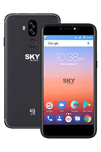 SKY Devices Elite A55 Unlocked Android Cell Phone - 5.5 Inch - 13MP Camera - 16 GB +2 GB Memory (Dark Grey)