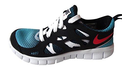 2 Free GS Laser Turquoise Crimson Unisex Sneaker Run NIKE White Black 460 bambino Blue qtw5RBxS