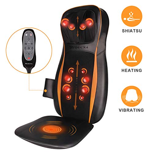Back Neck and Shoulder Massager - Shiatsu 3D Deap Kneading Massager with Heat for Lower Back, Calf, Legs, Foot - Use at Home, Office, Car