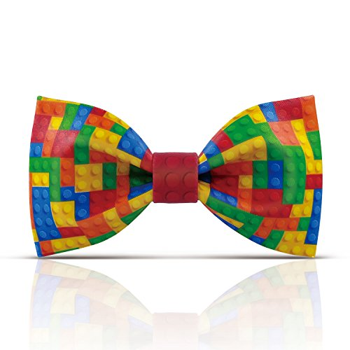 Lanzonia Novelty Colorful Plaid Mens Bow Tie