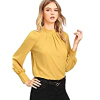 Alfa Fashion Party Solid Puffy Sleeve Self Design Women's Western Casual Top