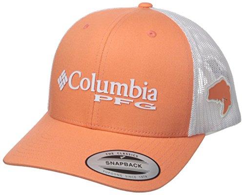 Columbia PFG Mesh Snap Back Ball Cap, Bright Peach Marlin, One Size