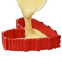 4 Pcs Magic Bake Snakes DIY Silicone Cake Mold Nonstick Tray Baking Mould Tools