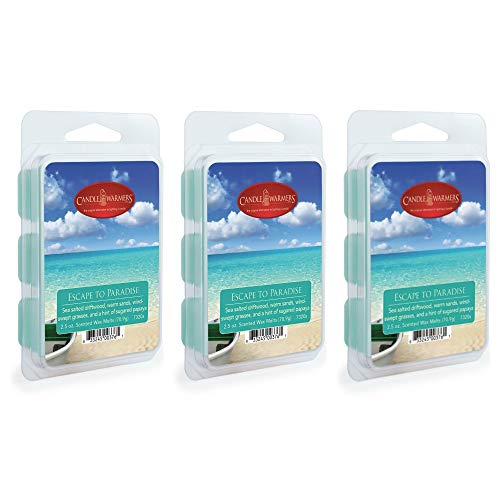 CANDLE WARMERS ETC. 2.5 oz Wax Melt 3-Pack, Escape to Paradise - Paradise Wax Candle